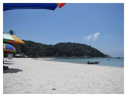 Beautiful beach on Perhentian Kecil in Malaysia