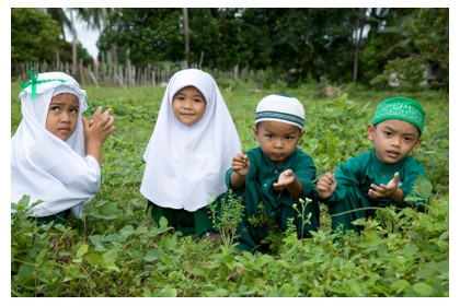 Local children in Malaysia