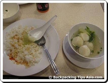 Fish ball soup in Kuala Lumpur