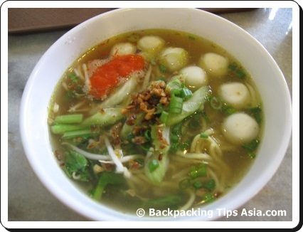 Fish ball soup at Central market in Kuala Lumpur