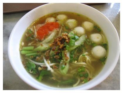 Fish ball soup in Kuala Lumpur, Malaysia