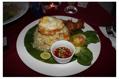 Fried rice with shrimp and chicken at Bubu's Resort on Perhentian Kecil