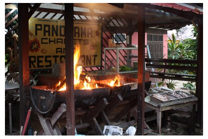 Starting the BBQ at Panorama restaurant in Perhentian Kecil