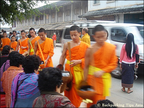 Novice procession in Luang Prabang