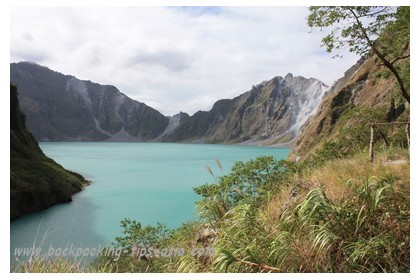 View of Mount Pinatubo in the Philippines
