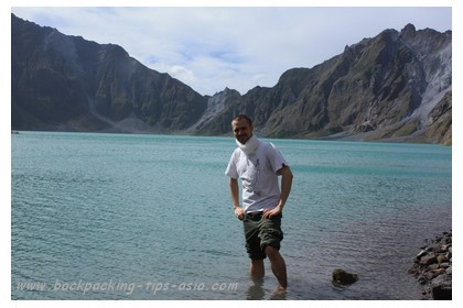 Me at mount Pinatubo in north Philippines