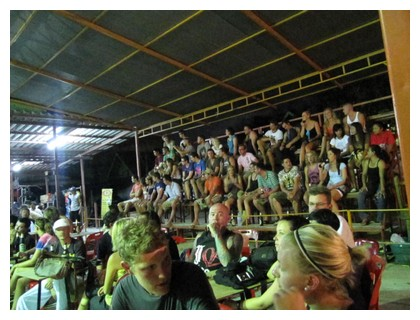 The audience at a muay thai fight in Koh Pha Ngan