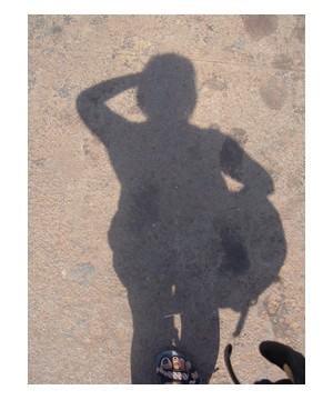 My shadow in Burma/Myanmar