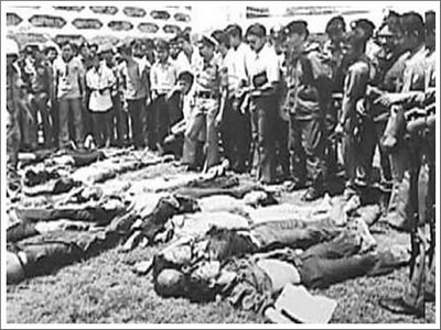 October massacre of students in Bangkok in 1976
