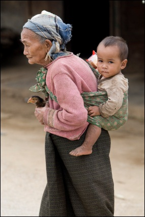 An old women in Laos, ©iStockphoto.com/Josef Muellek