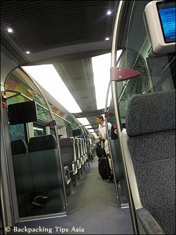 Onboard KLIA Express in Kuala Lumpur Malaysia