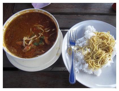 Laksa curry at Oregano cafe in Kota Kinabalu, Sabah