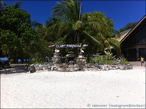 Outside Club Paradise Resort on Dimakyan island, the Philippines