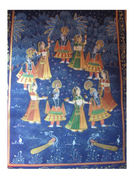 My painting on silk cloth bought from Jaipur in India