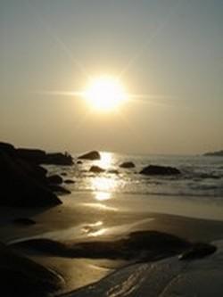 Sunset on Palolem beach