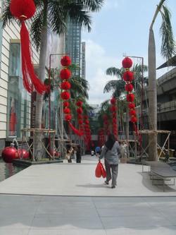 Outside Paragon Mall in Bangkok