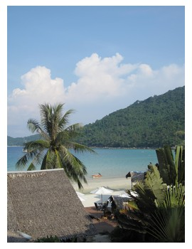 View from the room at Bubu's Resort on Perhentian Kecil in Malaysia