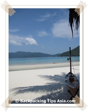Beautiful Long Beach on Perhentian Kecil in Malaysia