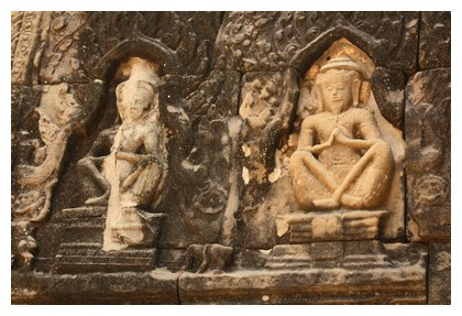 Carvings at Preah Khan in Angkor