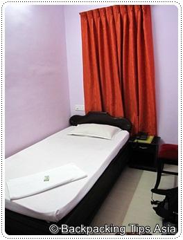 Single room at Princess Inn in Trivandrum, Kerala