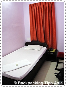 Room at Princess Inn in Trivandrum, India