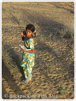 Village girl in Pushkar, India