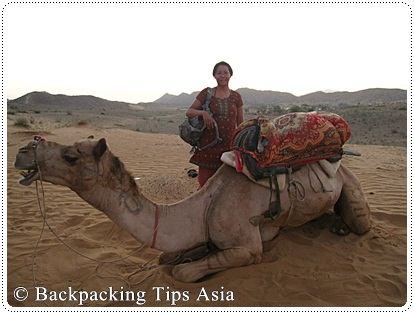 Me and my camel in Pushkar, India