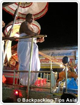Evening ceremony in Pushkar, India