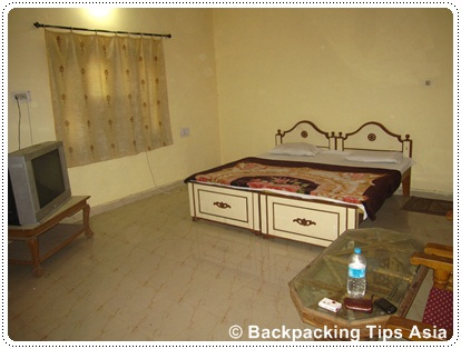 Room at Oasis Hotel in Pushkar, India