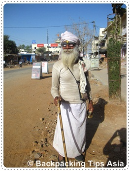 A local beggar in Pushkar, India