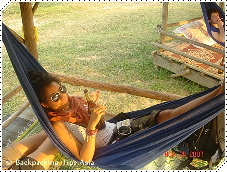 Relaxing in Vang Vieng