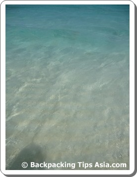 The clear, clear water of Sibuan island in Malaysian Borneo
