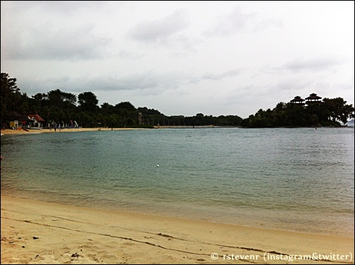 Sentosa island Palawan beach in Singapore