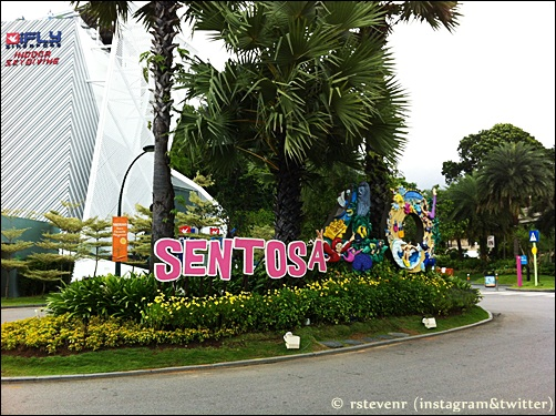 Sentosa island sign in Singapore