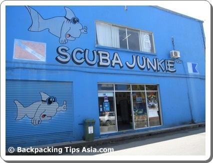 Outside Skuba Junkie in Semporna, Sabah
