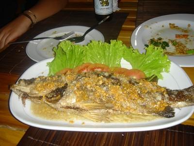 Sniper fish dish at Lemongrass restaurant in Ko Phi Phi island