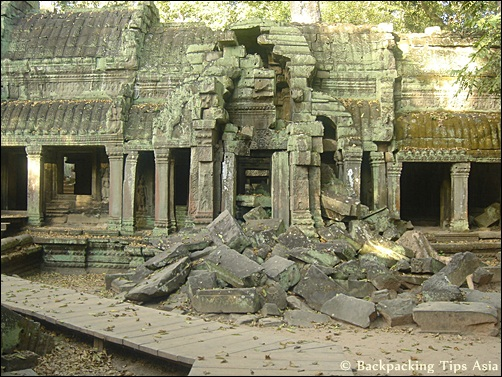 Ta Prohm temple site in Angkor