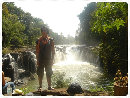 tad pha suam waterfalls in pakse, laos