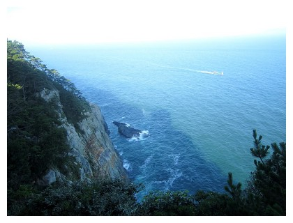 Taejongdae cliffs in Busan, South korea