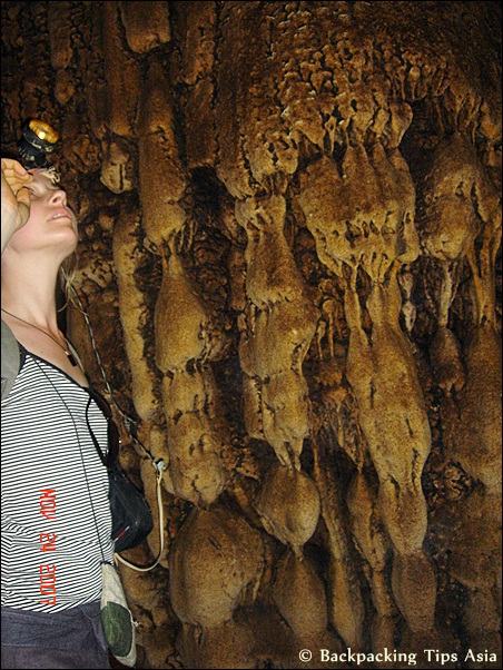Fascinating details at Tham Loup cave