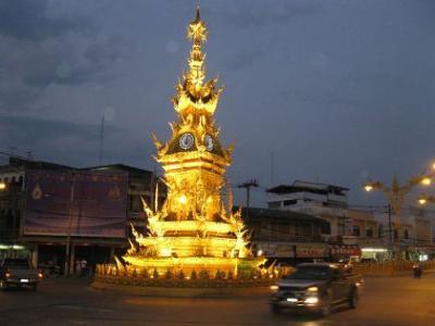 Chameleon clock tower of Chiangrai, Thailand
