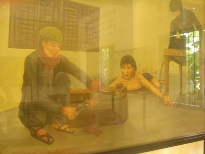 Awful painting at S-21 museum in Phnom Penh