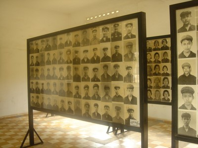 Male victime at S-21 Tuol Sleng museum in Phnom Penh, Cambodia
