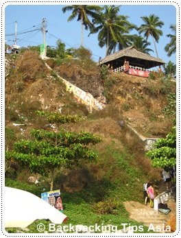 Stairs to North cliff beach in Varkala, India