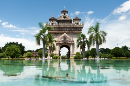 View of Patuxai in Vientiane Laos, ©iStockphoto.com/Josef Muellek