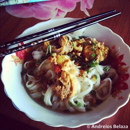 Noodle dish in Vietnam