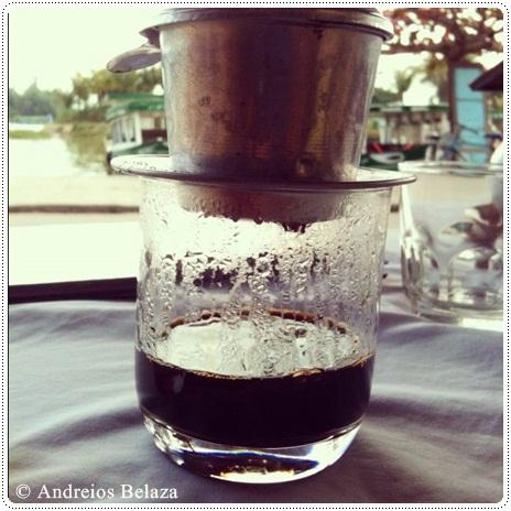 Vietnamese drip coffee in Hoi An
