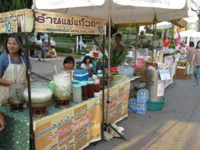 Street food is common in Thailand
